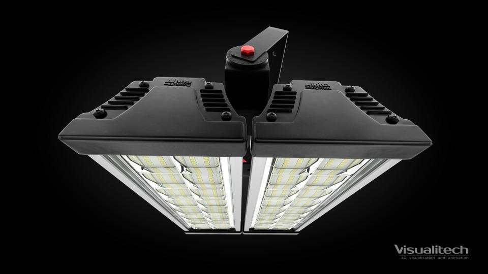 3d vizualizácia led light