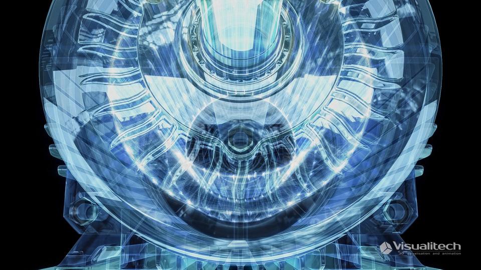 3d visualisation xray motor