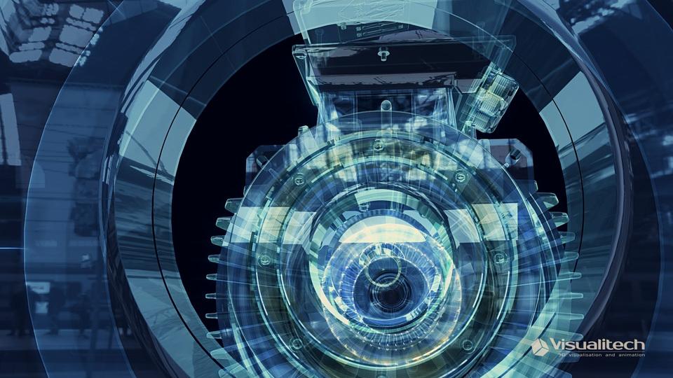 3d vizualizácia xray motor